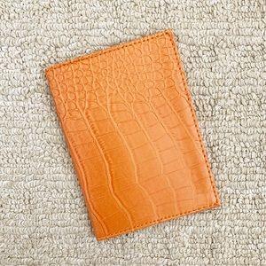Vintage orange alligator skin passport wallet